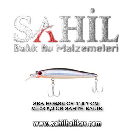 SEA HORSE CY-119 7 CM ML03 5,2 GR SAHTE BALIK