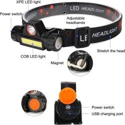 Shl33 Kafa Feneri Şarjlı Mıknatıslı Lityum Lion Pilli GTC26