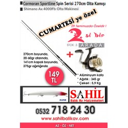 At-Çek seti Spin -Shimano 4000 ax - Cormoran 270 cm
