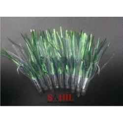 Yeşil Simli Slikon tüy Kolyos - Kupes -Tral